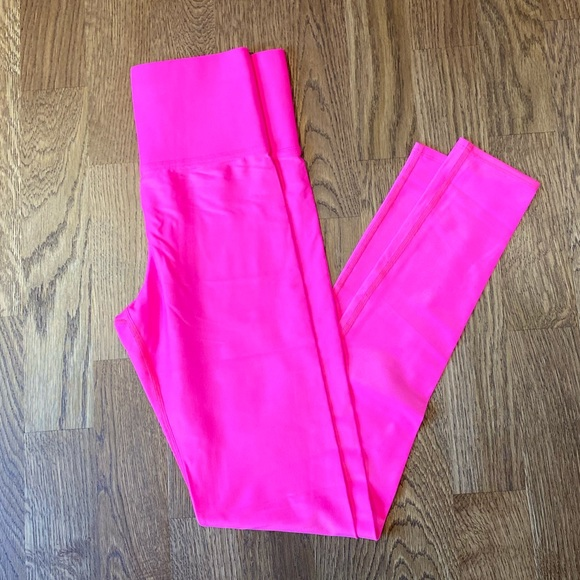 Carbon38 7/8 Neon Pink High Rise Legging